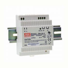 MEANWELL 30W DR-30-24 LED tápegység 24VDC