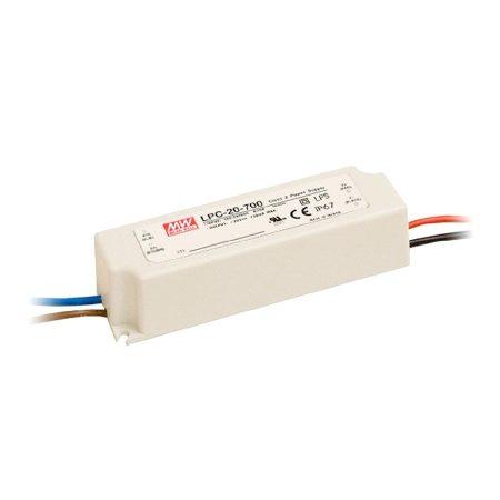 MeanWell 20W LPC-20-700 20W 9-30V/700mA LED tápegység IP67