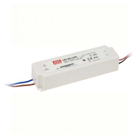 MeanWell 60W LPC-60-1400 60W 9-42V/1400mA LED tápegység IP67