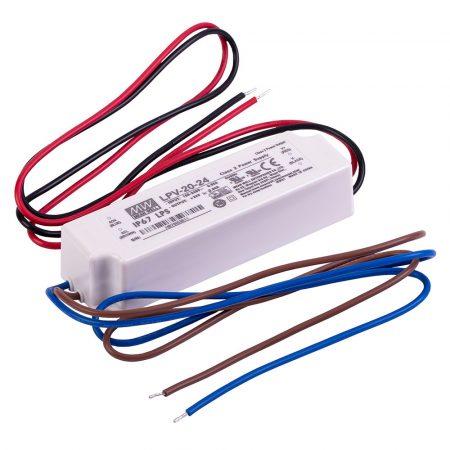 MEANWELL 20W LPV-20-24 IP67 24VDC LED tápegység