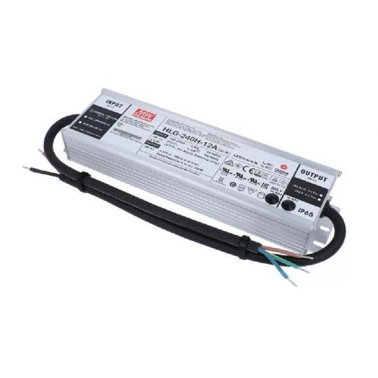 MEANWELL 240W HLG-240H-12A IP65 fém 12VDC