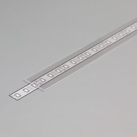 """LED profil fedél  """"E"""" víztiszta"""