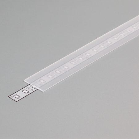 """LED profil fedél  """"E""""  matt átlátszó"""