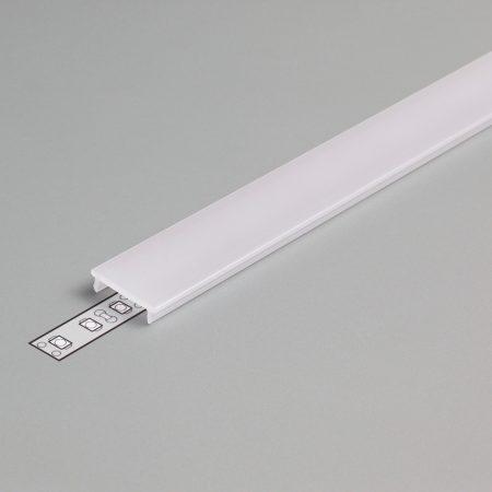 """LED profil fedél  """"F"""" klikk opál 4000mm"""