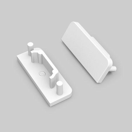 LED profil SURFACE14 végzáró fehér GEN2