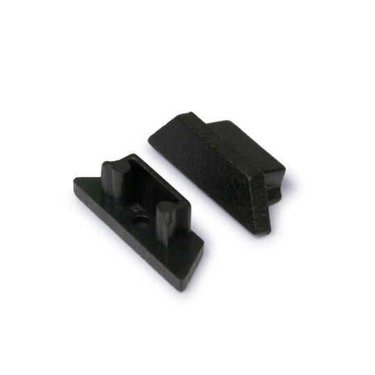 LED profil ARC12 végzáró fekete