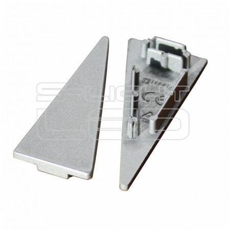 LED profil WALLE12 végzáró ezüst