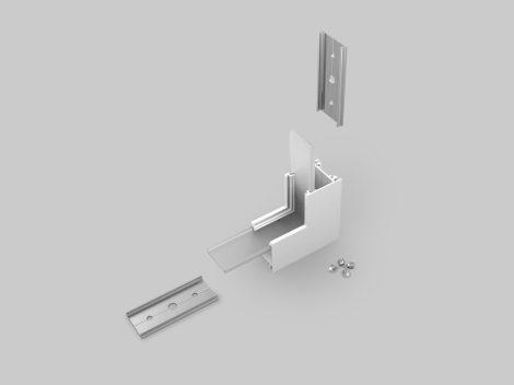 LED profil LINEA20 fehér térben forduló sarokidom 90°