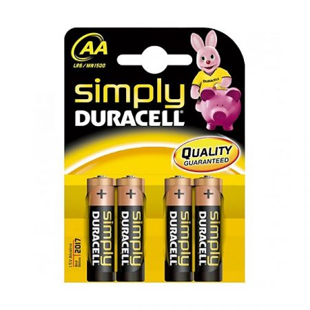 AA DURACELL SIMPLY 1,5V Ceruza elem LR6/MN1500 4db/csomag