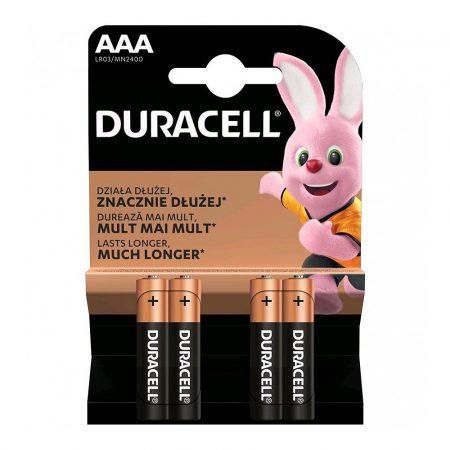 AAA DURACELL SIMPLY 1,5V Vékony Ceruza elem LR03/MN2400 4db/csomag