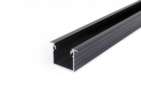 LED profil LINEA-IN20 süllyesztett fekete