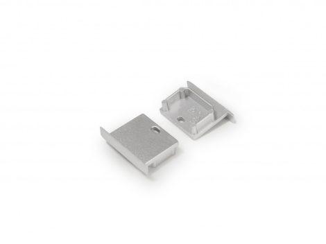 LED profil LINEA-IN20 süllyesztett fúrt végzáró ezüst