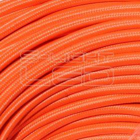 2x0,75mm2 Textilkábel neon narancs  kör fonattal