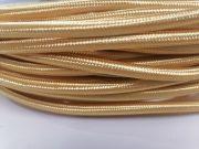 Textilkábel 229 SHINE copper fényes sárgaréz 2x0,75mm
