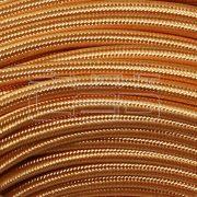 Textilkábel fényes arany 2x0,75mm