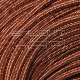 2x0,75mm2 Textilkábel barna kör fonattal