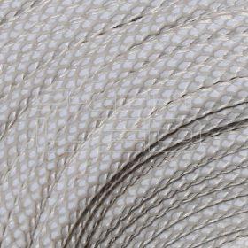 2x0,75mm2 Textilkábel-h hálós fehér kör fonattal