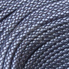 2x0,75mm2 Textilkábel-h hálós ón kör fonattal