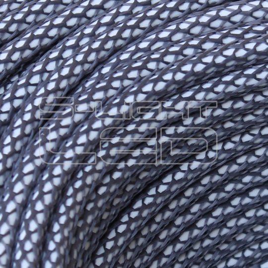 Textilkábel hálós ón színű 2x0,75mm