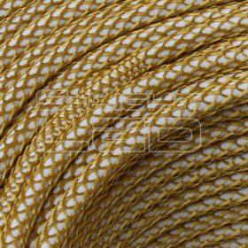 2x0,75mm2 Textilkábel-h hálós arany kör fonattal