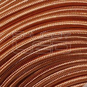 2x0,75mm2 Textilkábel fényes vörösréz kör fonattal