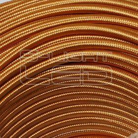 2x0,75mm2 Textilkábel fényes sötét arany kör fonattal