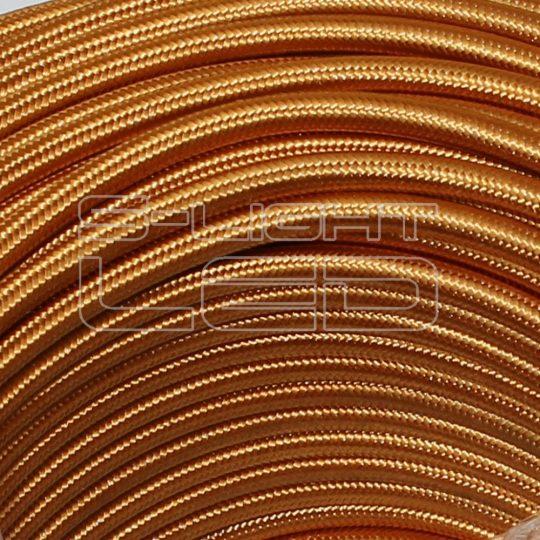 Textilkábel 701 GOLD fényes sötét arany 2x0,75mm