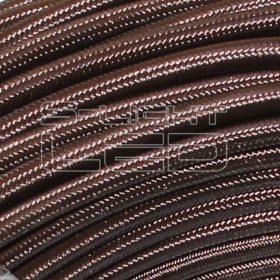 2x0,75mm2 Textilkábel fényes bronz kör fonattal