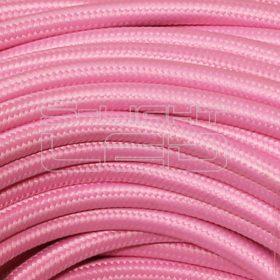 2x0,75mm2 Textilkábel rózsaszín kör fonattal