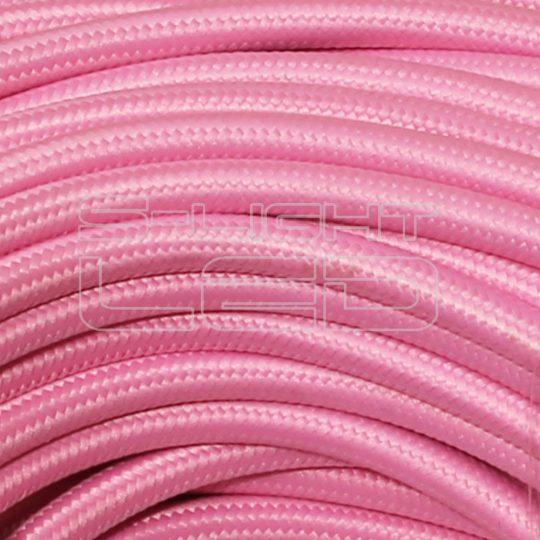 Textilkábel rózsaszín  2x0,75mm
