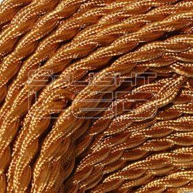 2x0,75mm2 Textilkábel-s  arany sodrott fonattal