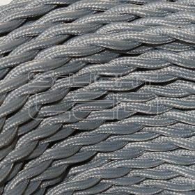 2x0,75mm2 Textilkábel-s  szürke sodrott fonattal
