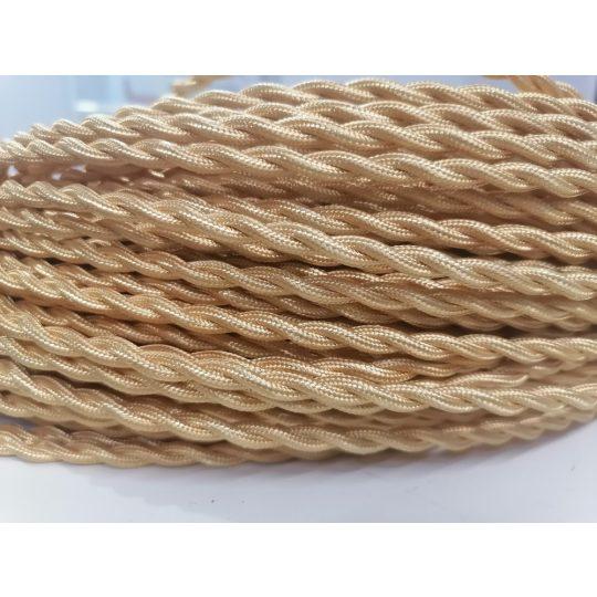 Textilkábel sodrott fényes ezüst  2x0,75mm twisted