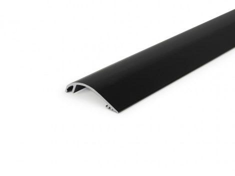 LED profil fedél  WAY10 fekete eloxált