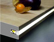 """LED profil fedél  """"C1"""" HI8  klikk opál"""