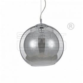 IDEAL LUX NEMO SP1 D30 FUMÉ függeszték króm / füstüveg