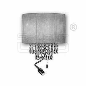 IDEAL LUX OPERA AP3 CROMO fekete oldalfali lámpatest