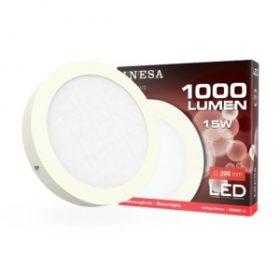 LED PANEL 15W CLR INESA 6000K FALON KÍVÜLI D=226mm 1000lm 60372