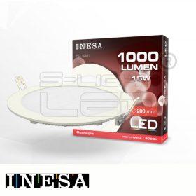 LED PANEL 15W LR INESA 3000K  D=200mm 1000lumen G3 60541