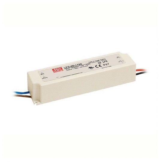 MEANWELL  60W LPC-60-1750 60W 9-34V/1750mA LED tápegység IP67