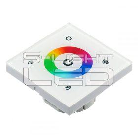 RGB LED VEZÉRLŐ SL-TM08E fehér érintőgombos panel