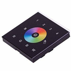LED SL-2820B érintőpaneles fali RGBW RF LED vezérlő fekete AC 230