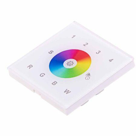 LED SL-2820W/AC  érintőpaneles fali RGBW RF LED vezérlő fehér AC 230
