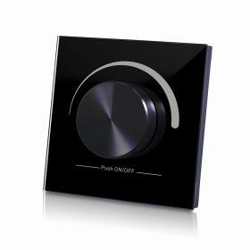 LED SL-2805R-B forgógombos fali DIMMER RF vezeték nélküli fekete