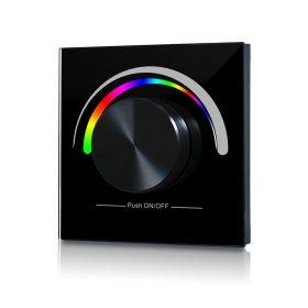 LED SL-2836E-B forgógombos fekete fali RGB LED vezérlő vezeték nélküli