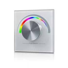 LED SL-2836E-W  forgógombos fehér fali RGB LED vezérlő vezeték nélküli