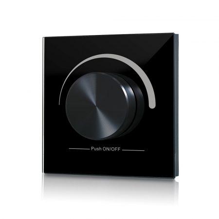 SL-2836R forgógombos fekete fali LED dimmer vezeték nélküli