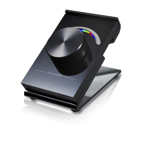 SL-2836DRGB -B forgógombos fekete asztali RGB LED vezérlő vezeték nélküli