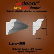 Lec-28 oldalfali rejtett világítás díszléc 2 méter
