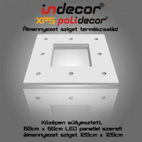 N-120-LP XPS NÉGYZET álmennyezet 60 x 60 cm LED Panellel süllyesztett 120 x 120 cm